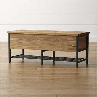 Teca Storage Trunk-Bench - Crate and Barrel