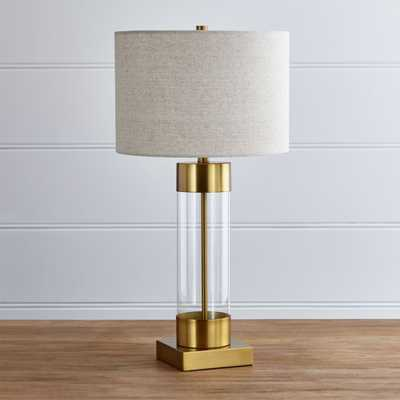 Avenue Brass Table Lamp with USB Port - Crate and Barrel