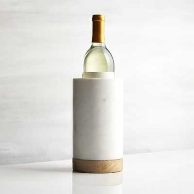 Wood Marble Wine Cooler - Crate and Barrel