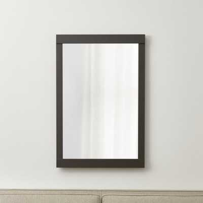 Colby Gunmetal Wall Mirror - Crate and Barrel