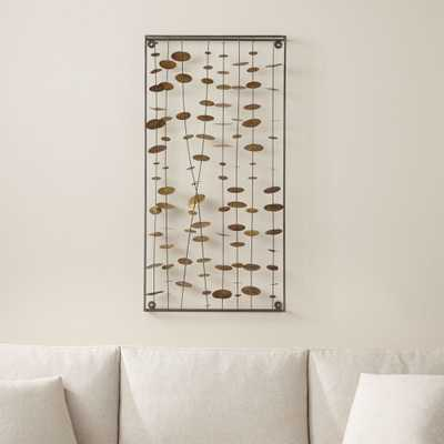 Chimes Metal Wall Sculpture - Crate and Barrel