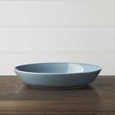 Hue Blue Low Bowl - Crate and Barrel