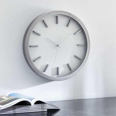 """Huxley 17"""" Wall Clock - Crate and Barrel"""