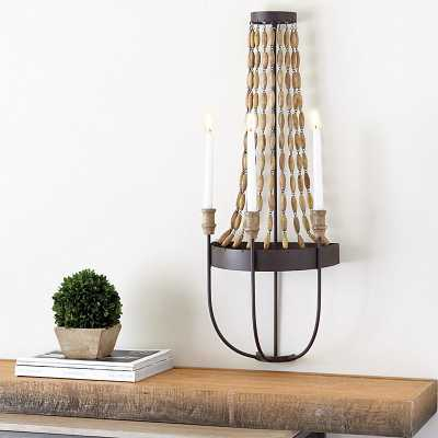 Wood Bead Candle Sconce - Ballard Designs