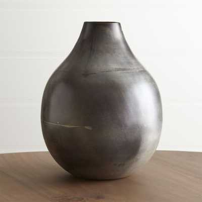 Bringham Large Metal Vase - Crate and Barrel