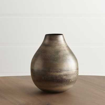 Bringham Small Metal Vase - Crate and Barrel