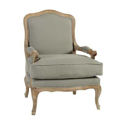 Ballard Designs Louisa Bergere Chair Gray Flaxen - Ballard Designs