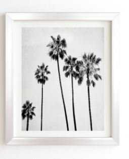 "FIVE PALMS, Framed Wall Art, 11""x13"", Basic Silver Frame - Wander Print Co."