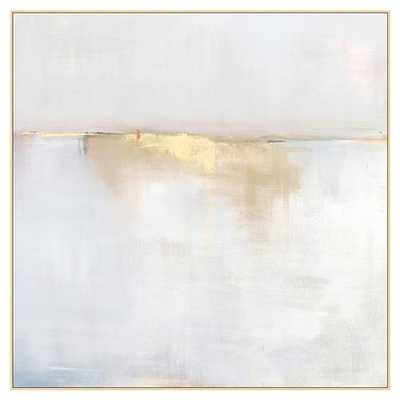 Fog Mist Sea Grey Abstract Canvas - II - Kathy Kuo Home