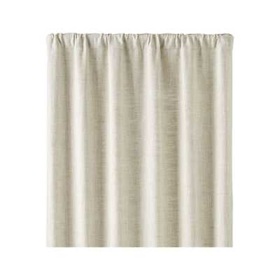 "Reid Natural 48""x84"" Curtain Panel - Crate and Barrel"