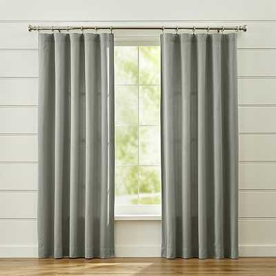 Taylor Grey Curtains - Crate and Barrel