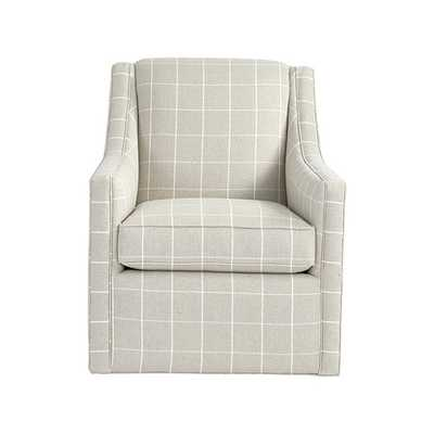 Carlyle Swivel Chair in Dover Linen - Stocked - Ballard Designs
