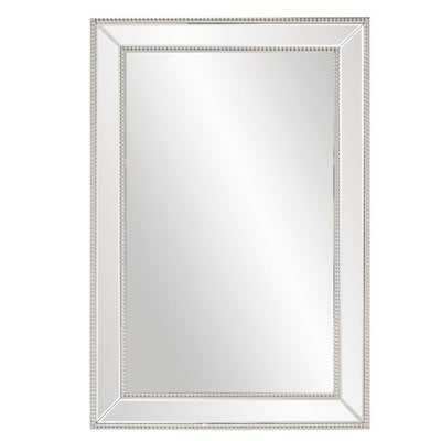 Clarimond Silver Rectangle Wall Mirror - Wayfair