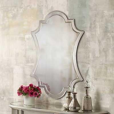 "Elara Antiqued Silver 27"" x 43"" Wall Mirror - Hudsonhill Foundry"