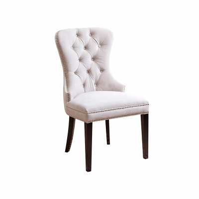 VERSAILLES TUFTED DINING CHAIR - IVORY - Abbyson Living