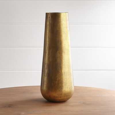 Element Metal Antiqued Brass Vase - Crate and Barrel