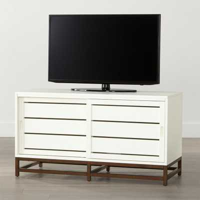 "Clapboard White 48"" Media Console - Crate and Barrel"