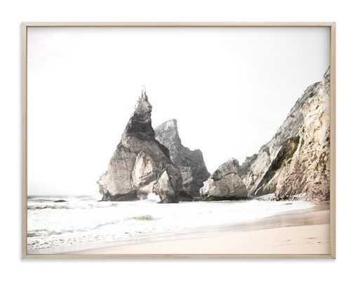 "Praia Da Ursa - 40"" x 30"" - Matte Brass Frame - Minted"