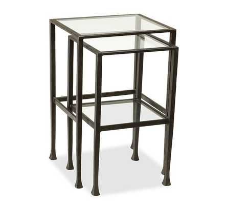 Tanner Nesting Side Tables, Bronze Finish - Pottery Barn