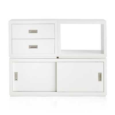 Aspect White 3-Piece Small Modular Storage Set - Crate and Barrel
