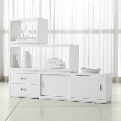 Aspect White 4-Piece Large Modular Storage Set - Crate and Barrel