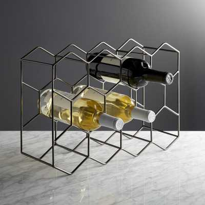 11-Bottle Graphite Wine Rack - Crate and Barrel