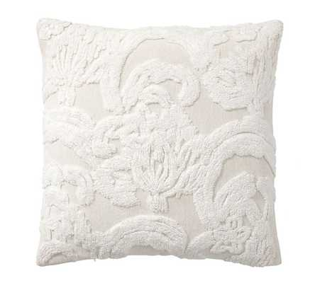 "Natalia Silk Jacquard Pillow Cover, 22"", Ivory - Pottery Barn"