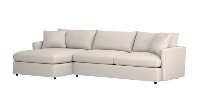 Lounge II Petite 2-Piece Sectional - Cambridge, Sand - Crate and Barrel