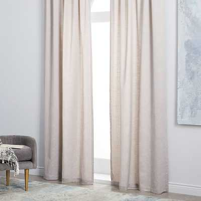 Starburst Jacquard Curtain - 48 x 96 - West Elm