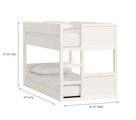 Camden Twin-Over-Twin Low Bunk Bed - Pottery Barn Kids