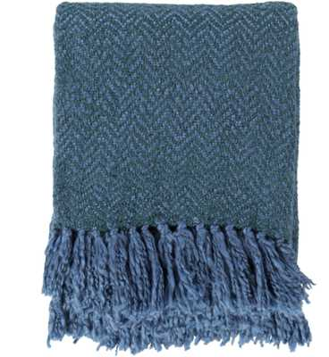Trina Blue Throw Blanket - Neva Home