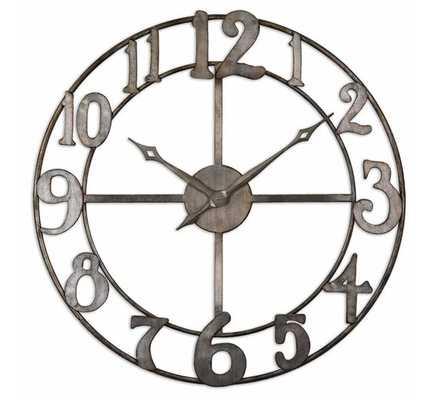 "Delevan 32"" Metal Clock - Hudsonhill Foundry"