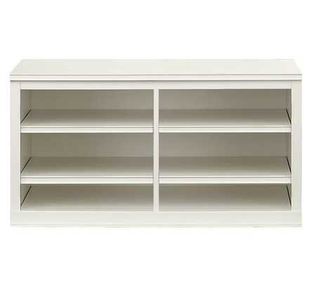 Logan Modular Small TV Stand, White - Pottery Barn