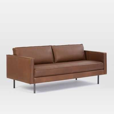 "Axel Leather Sofa (76""), Carob - West Elm"