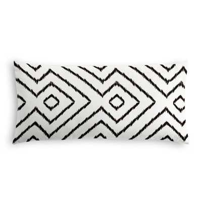 "Lumbar Pillow  Optrix - Black 12"" x 24"" - Loom Decor"