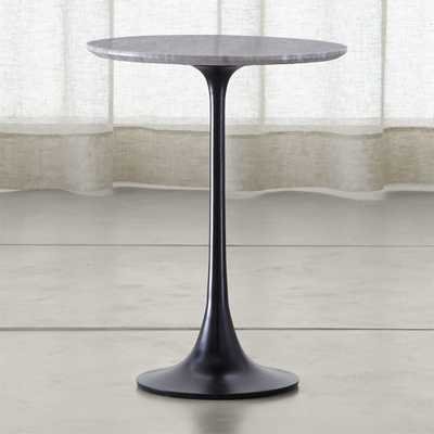 Nero Grey Marble Accent Table - Crate and Barrel