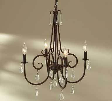 Audrina Crystal Chandelier, Bronze - Pottery Barn