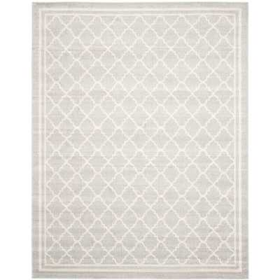 Amherst Light Gray/Beige 8 X 10 Indoor/Outdoor Area Rug - Home Depot