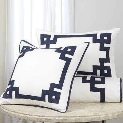 Suzanne Kasler Greek Key Sham, Euro,  Indigo - Ballard Designs