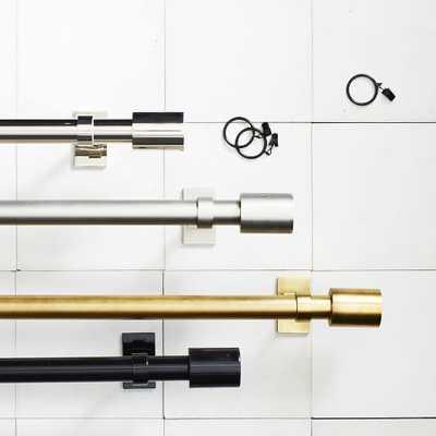 "Oversized Adjustable Metal Rod, Antique Brass  44-88"" - West Elm"