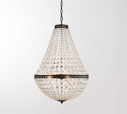Mia Large Faceted-Crystal Chandelier - Pottery Barn