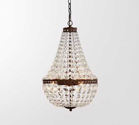 Mia Small Faceted-Crystal Chandelier - Pottery Barn