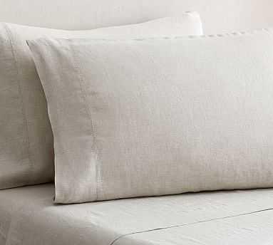 Belgian Flax Linen Standard Sham, Natural - West Elm