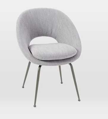 Orb Dining Chair, Mod Weave, Pumice, Linen Weave, Antique Bronze - West Elm