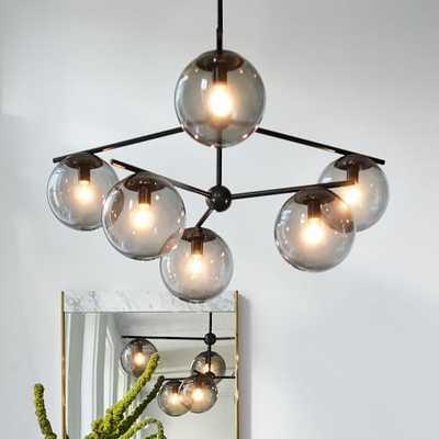 Sphere + Stem 6-Light Chandelier + Flushmount - West Elm