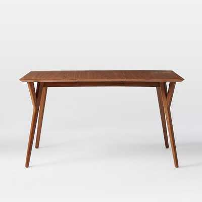 "Mid-Century Expandable Dining Table - Medium (60""-80"")- Walnut - West Elm"