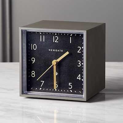 Newgate grey and black cubic alarm table clock - CB2