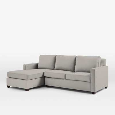 Henry 2-Piece Chaise Sectional, Left Arm Loveseat, Right Chaise, Microfiber - Ash Gray - West Elm