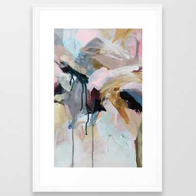 1 0 5 Framed Abstract - Scoop White Frame - 20 x 26 - Society6