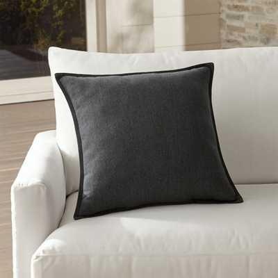 """Sunbrella ® Charcoal 20"""" Sq. Outdoor Pillow - Crate and Barrel"""